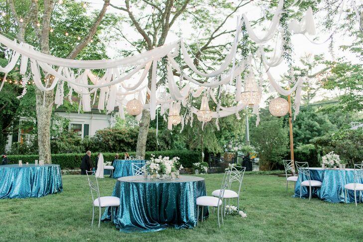 Outdoor Art Deco Reception in Cape Cod, Massachusetts