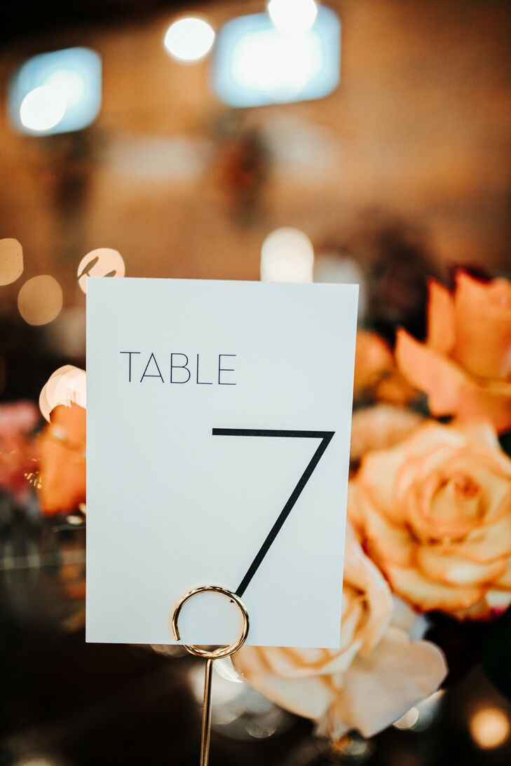 Table Number for Reception at Fancy Free Nursery in Tampa, Florida