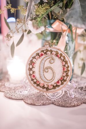 Hand-Embroidered Reception Table Numbers