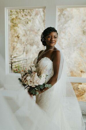 Bridal Portrait During Elopement in Asheville, North Carolina