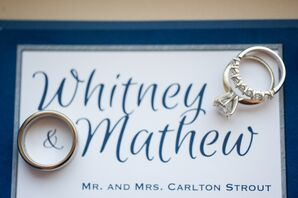 Whimsical Navy and White Wedding Invitations
