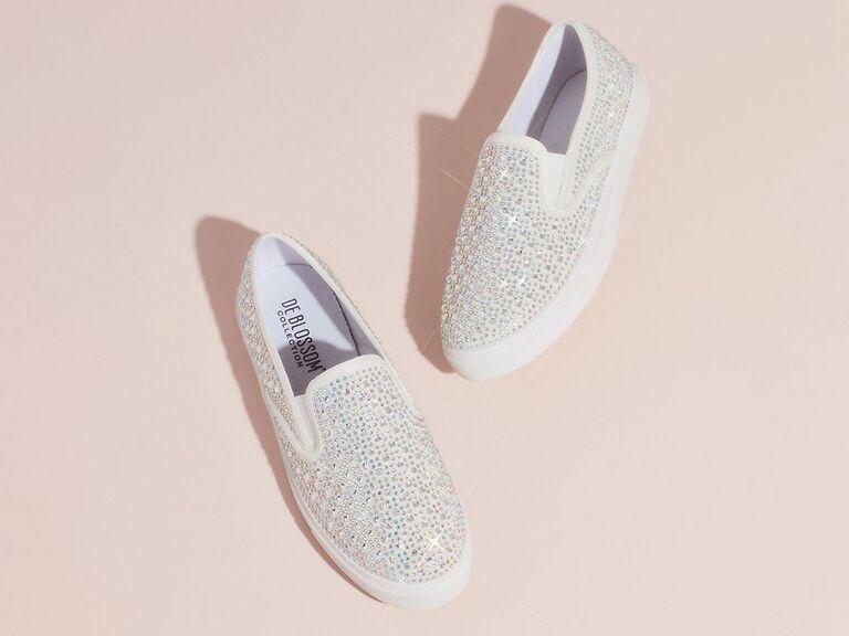 Crystal wedding sneakers