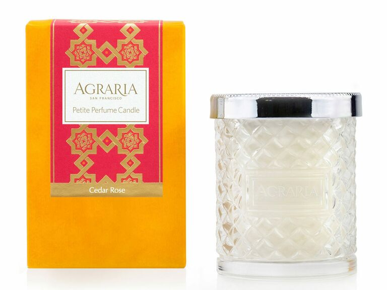 Agraria Cedar Rose crystal candle romantic gift for wife