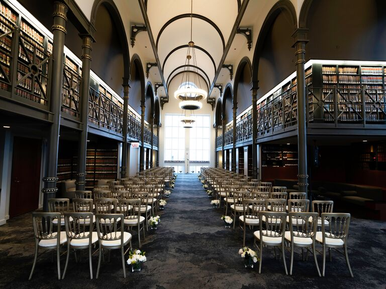 Library wedding venue in Chicago, Illinois.