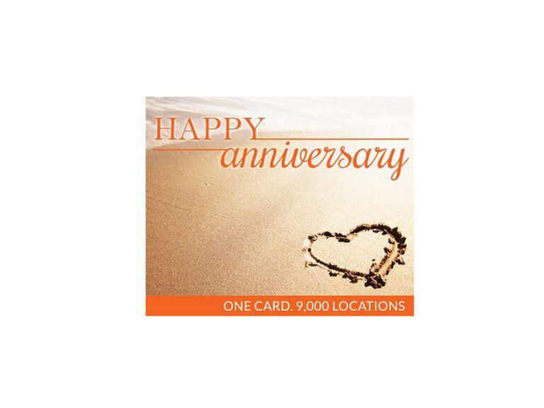 Spa Week gift card 5 year anniversary gift