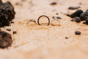 Classic Wedding Rings in Sand