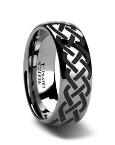 Mens Tungsten Wedding Bands T175-TCCK Tungsten Wedding Ring