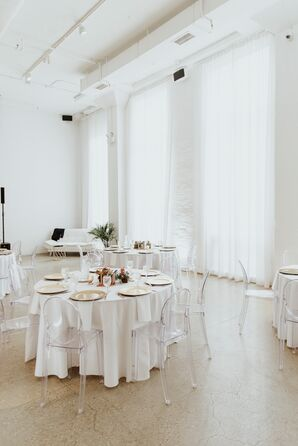 Modern White Reception Space