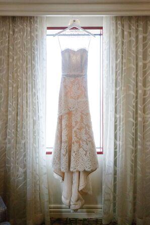 Strapless Lace Ivory Wedding Dress