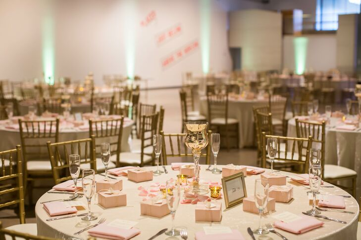 Blush and Gold Reception Table