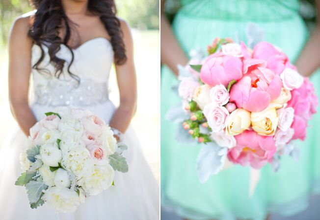 A Pink and Mint Green Spring Wedding by Caroline Frost Photography