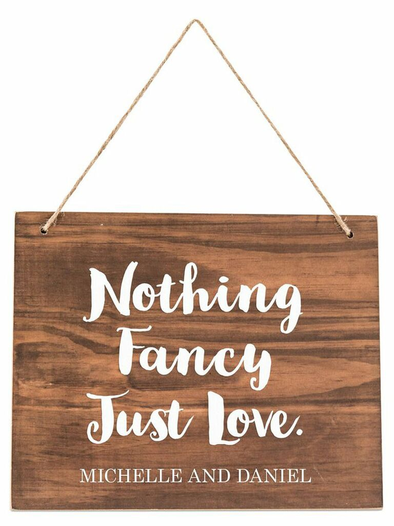 Wooden sign wedding photo booth prop