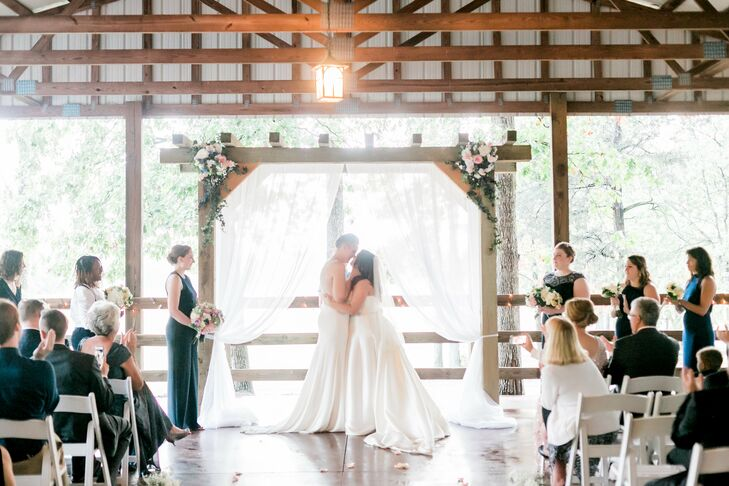 Rustic Ceremony at The Farm at Brusharbor in Concord, North Carolina