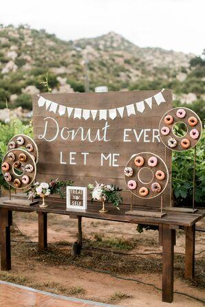 Rustic Wood Doughnut Display