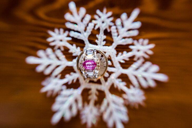 Pink Oval Cut Diamond Ring