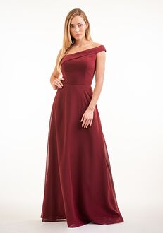 JASMINE P226004 One Shoulder Bridesmaid Dress