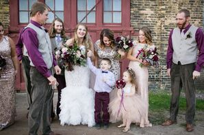 Wedding Party in Autumnal Colors
