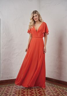 JASMINE P216054 V-Neck Bridesmaid Dress
