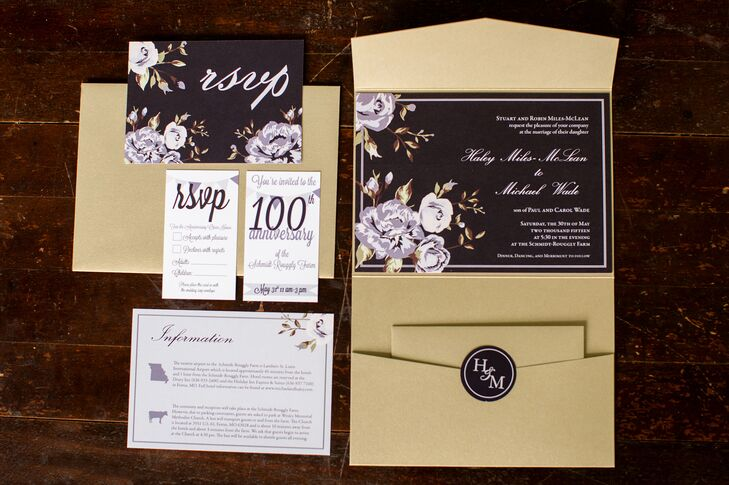 Haley's friend Joanne Stein designed all the stationery, and Haley and Michael adored it. She used reverse type and decorated the paper goods with oversize lavender and white flowers along the edges. They were a modern twist on the classic look and set the tone for the day.