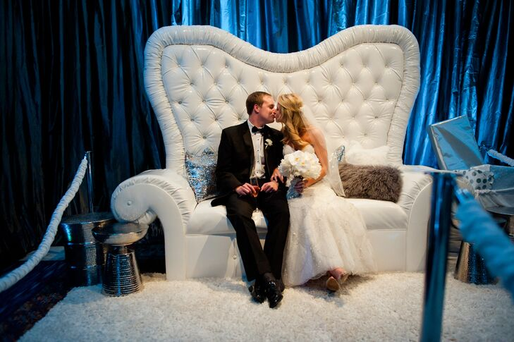 Winter Wedding North Pole Photo Booth