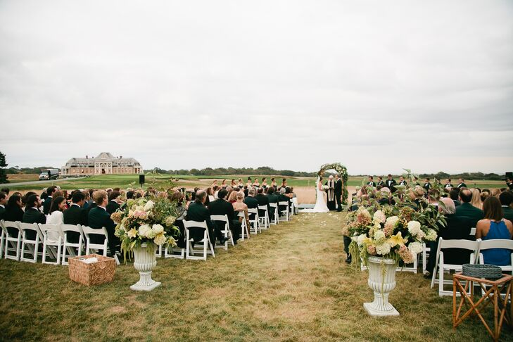 Outdoor Country Club Wedding Ceremony