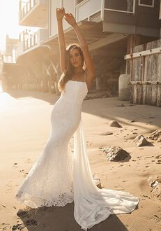 Lulus Remarkable Moment White Floral Embroidered Lace-Up Maxi Dress Mermaid Wedding Dress
