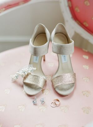 Nude Jimmy Choo Sandal Heel Wedding Shoes