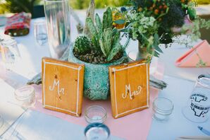 DIY Wooden Painted Table Numbers