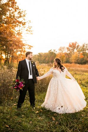 Sunset Wedding Portraits at Toledo Country Club in Ohio