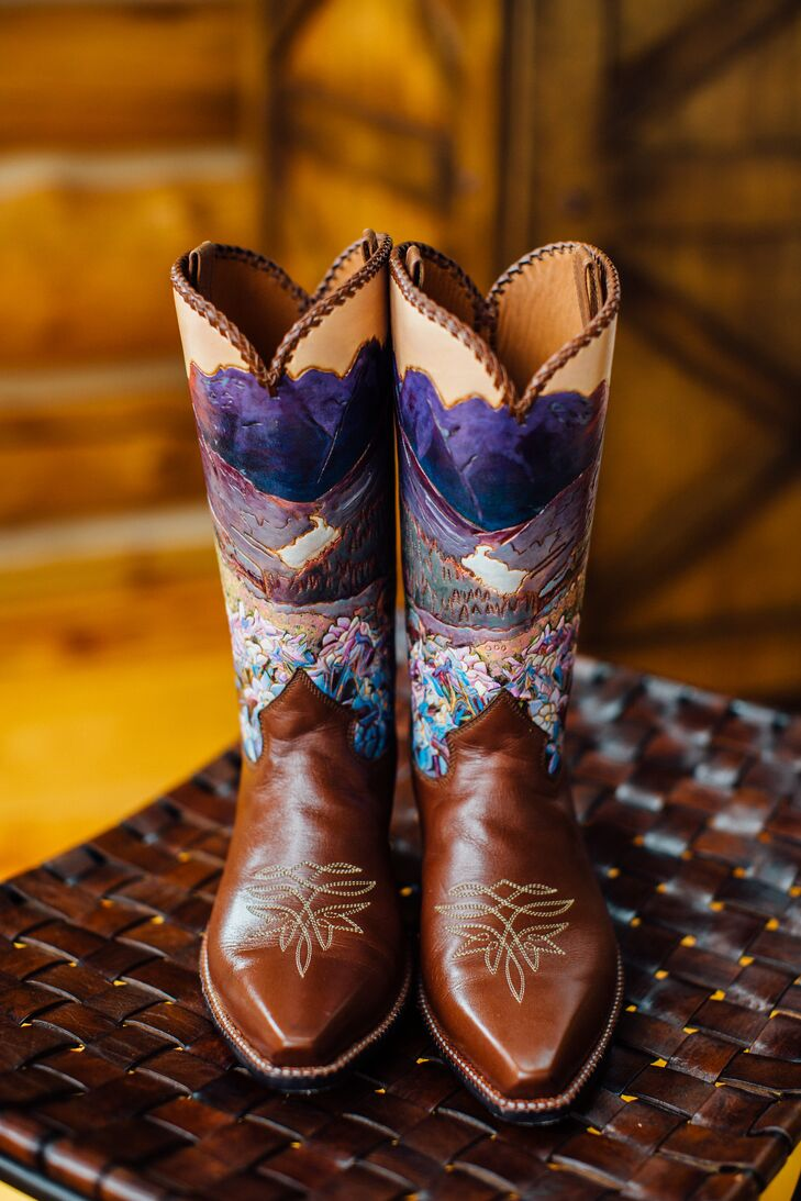 Custom, Hand-Painted Cowboy Boots