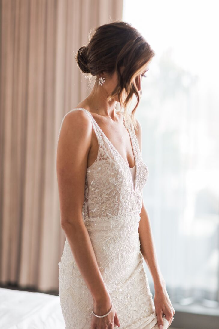 Loose Bun Bridal Updo