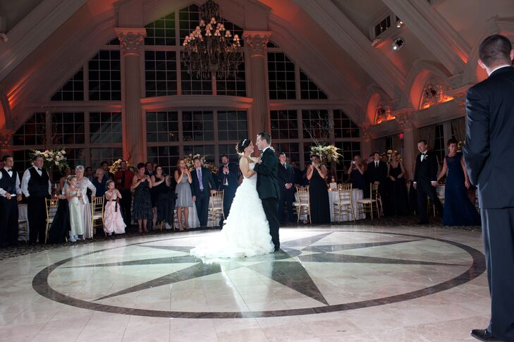 First Dance in the Large Open Ballroom