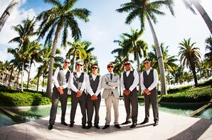 Key West, Florida Casual Gray Groomsmen Suits