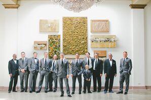 Groomsmen in Vera Wang Gray Suits