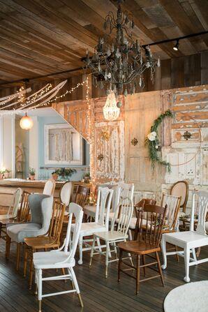 Eclectic Vintage Furniture at Tunkhannock, Pennsylvania, WEdding
