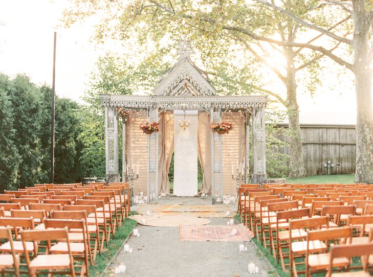 Bohemian Outdoor Ceremony at Terrain in Glen Mills, Pennsylvania