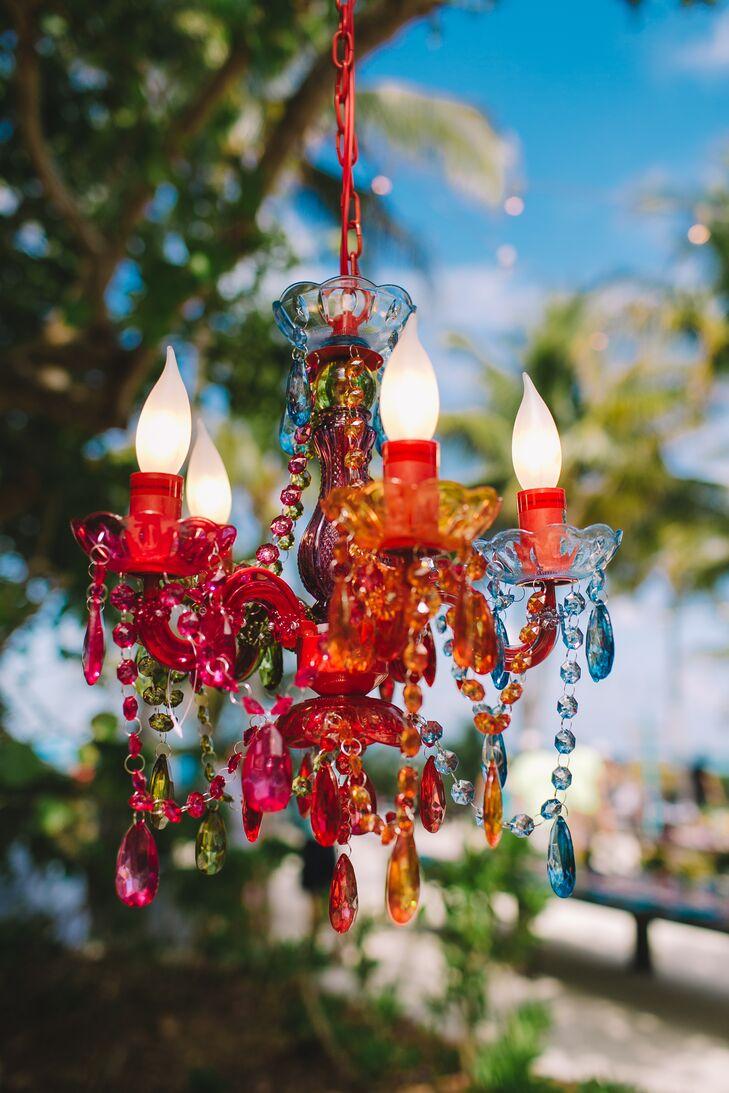 Multicolor Crystal Chandelier