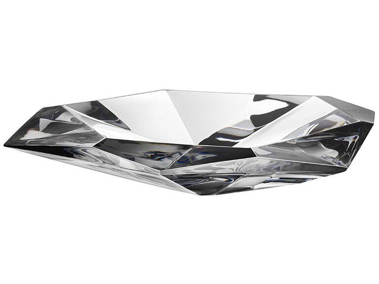 precious crystal dish