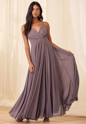 Lulus All About Love Dusty Purple Maxi Dress V-Neck Bridesmaid Dress