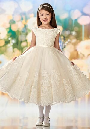 Joan Calabrese by Mon Cheri 218342 Gold Flower Girl Dress