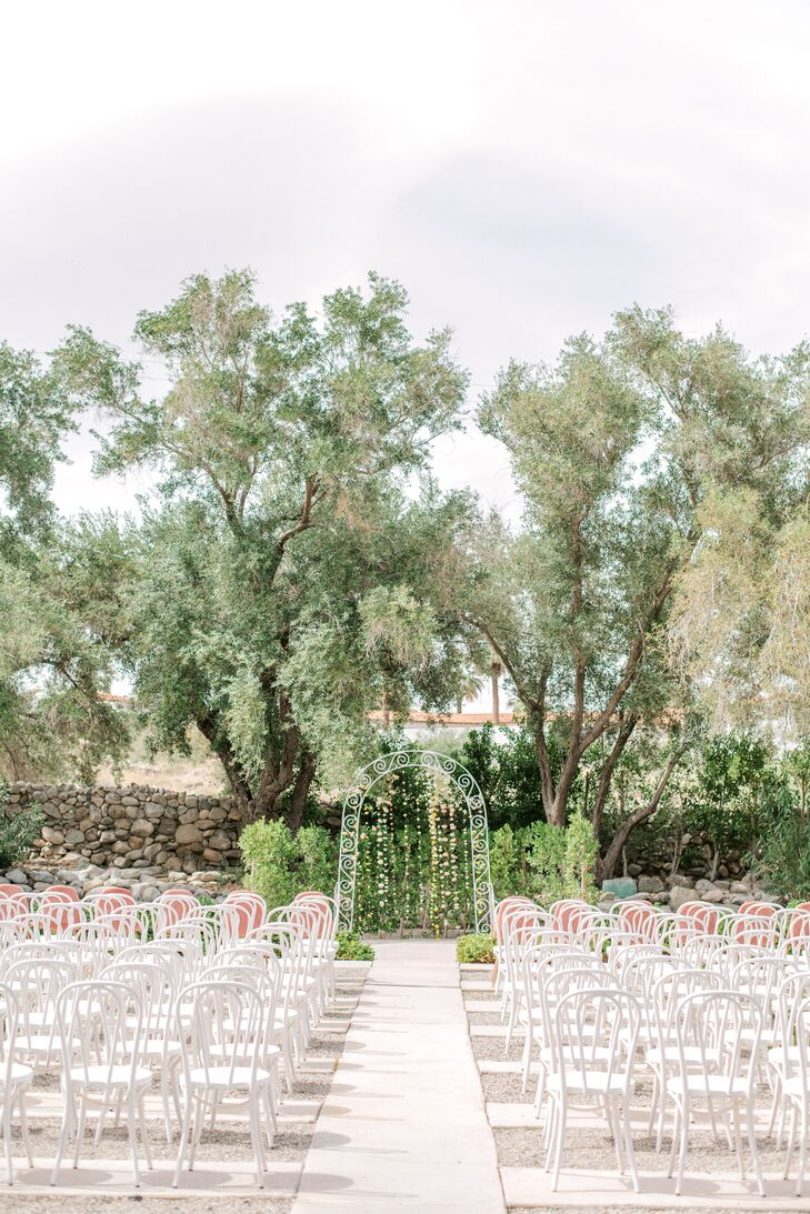Retro Ceremony at The Frederick Loewe Estate in Palm Springs, California