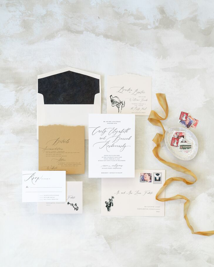 Elegant Wedding Invitations with Vintage Calligraphy