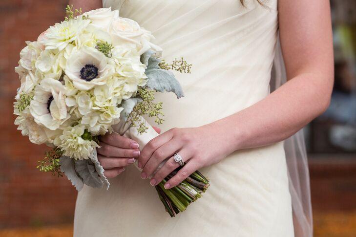 White Hydrangea and Garden Rose Bridal Bouquet