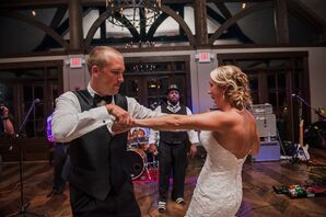 Bride and Groom Dancing to Nu South Players Band