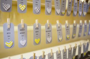Heart-Embellished Escort Cards