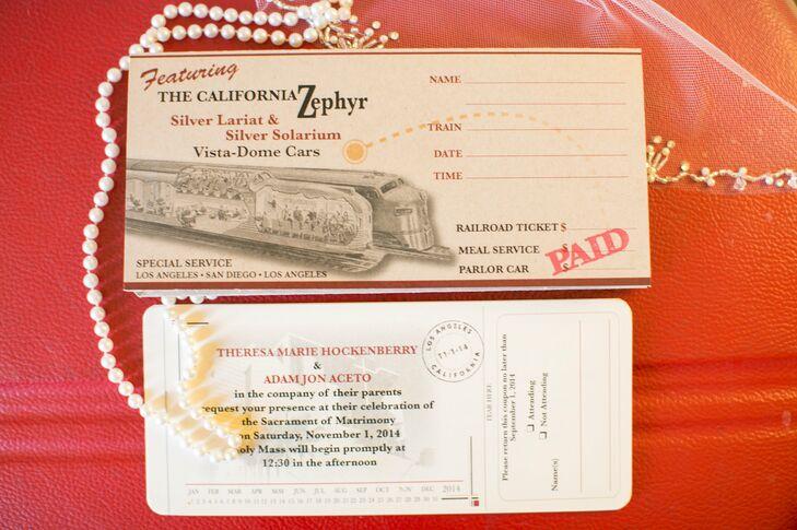 Vintage Train Ticket Wedding Invitations