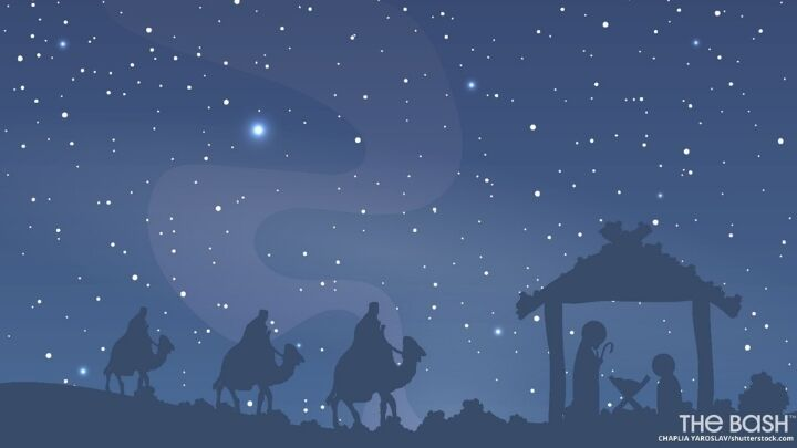 Christmas Manger Zoom Background