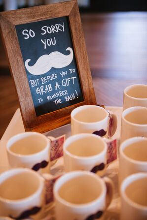 Mustache Mugs as Funny Wedding Favor