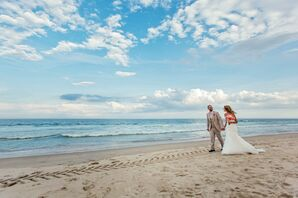 Paloma Blanca White Mermaid-Style Wedding Dress
