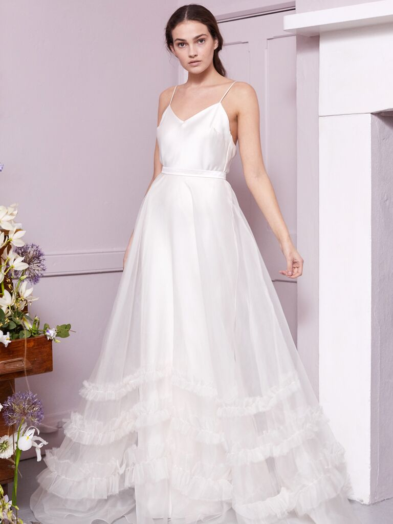 Halfpenny London 2020 Bridal Collection A-line wedding dress with ruffle detail